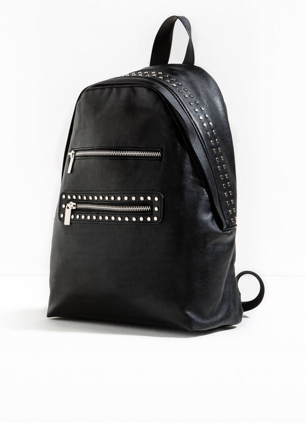 Backpack with studs and zip fastening | OVS