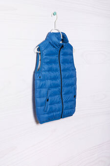 Quilted and padded jacket, Blue, hi-res