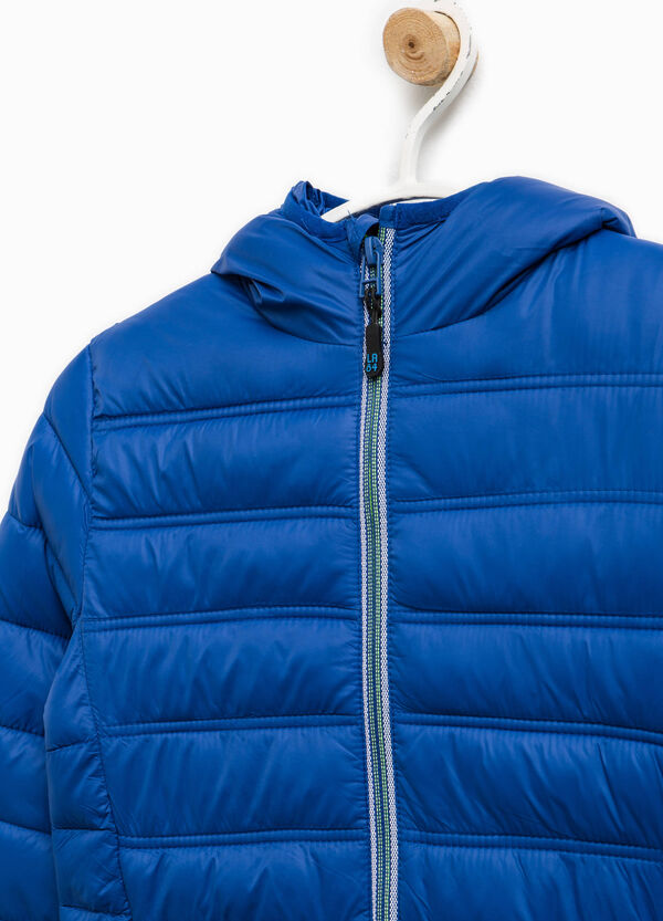 Solid colour down jacket with contrasting zips | OVS