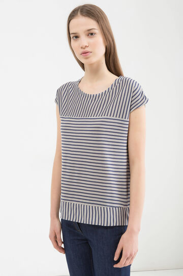 Striped, 100% viscose T-shirt