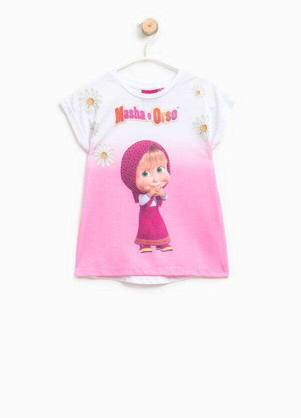 T-shirt with maxi Masha and the Bear print | OVS