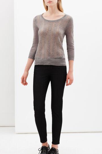 Openwork pullover, Grey Marl, hi-res
