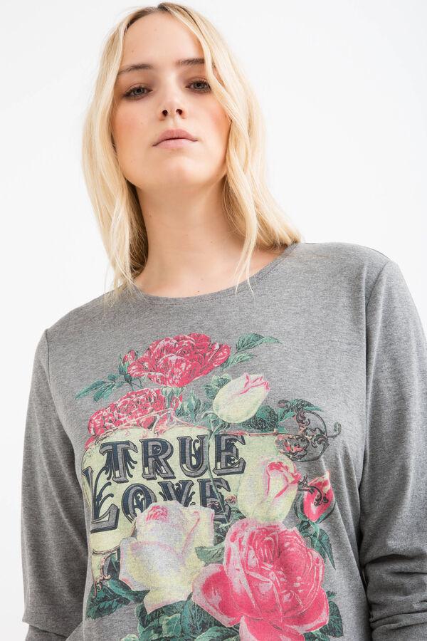 Curvy printed stretch T-shirt | OVS