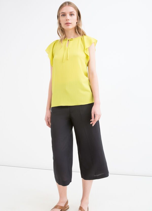 Blusa stretch tinta unita | OVS