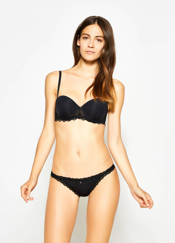 Balconette bra with lace | OVS