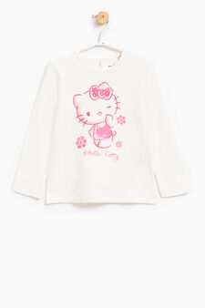 Hello Kitty T-shirt in stretch cotton, Milky White, hi-res