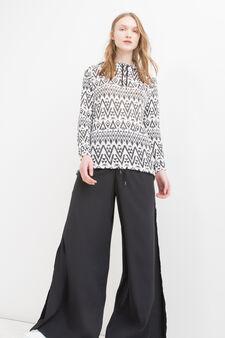 Viscose blend maxi hoodie, Black, hi-res