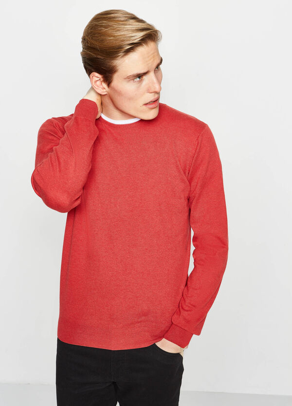 Solid colour 100% cotton pullover | OVS