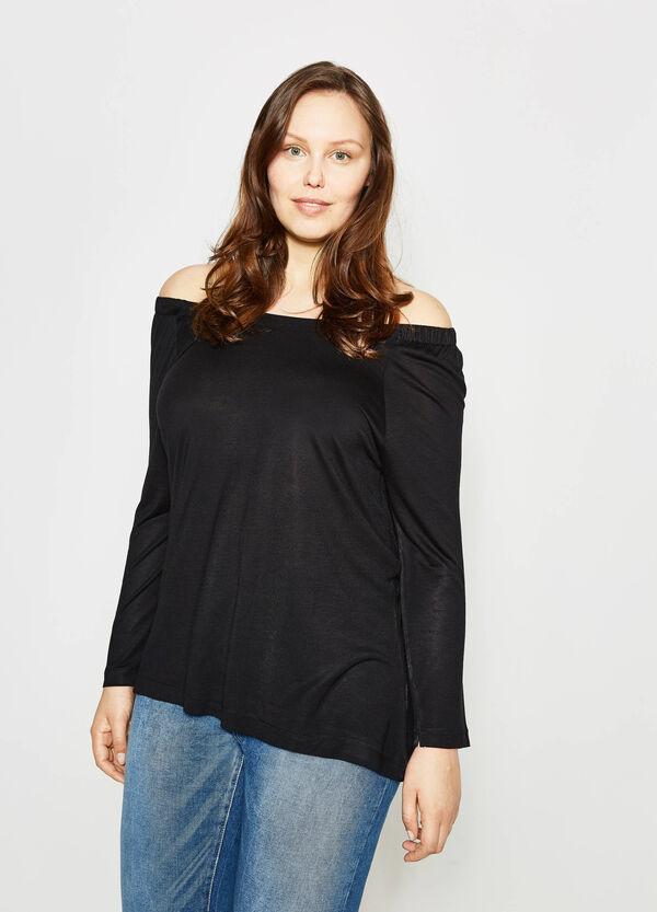 T-shirt con scollo a barchetta Curvy | OVS