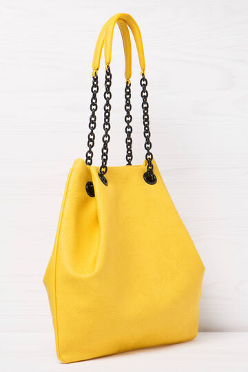 Solid colour shoulder bag, Yellow, hi-res