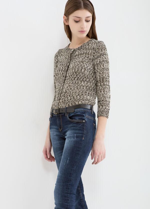Cardigan misto cotone con lurex | OVS