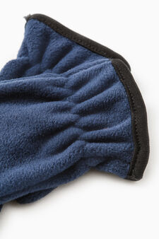 Solid colour fleece gloves, Navy Blue, hi-res