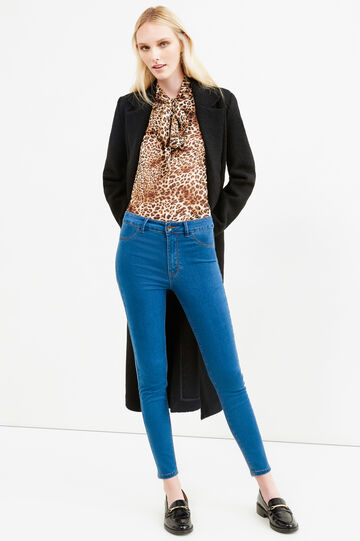Stretch jeggings with contrasting stitching, Light Wash, hi-res