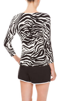 Maglia animalier, White/Black, hi-res