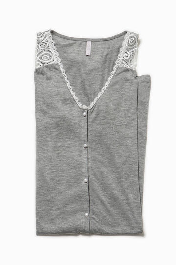 Nightshirt in viscose lace