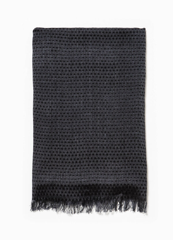 Jacquard scarf with micro-diamond pattern | OVS