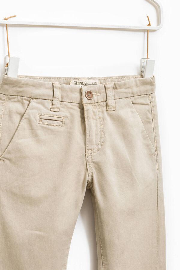 Pantaloni chino stretch tinta unita | OVS