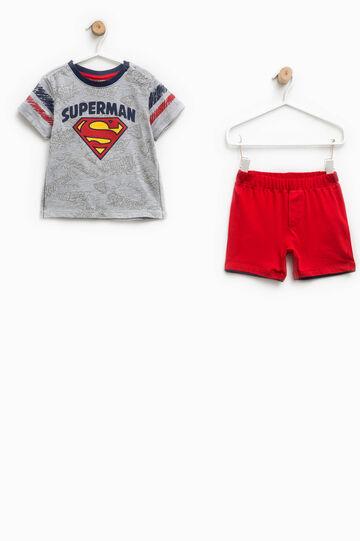 Completo t-shirt e pantaloncini Superman
