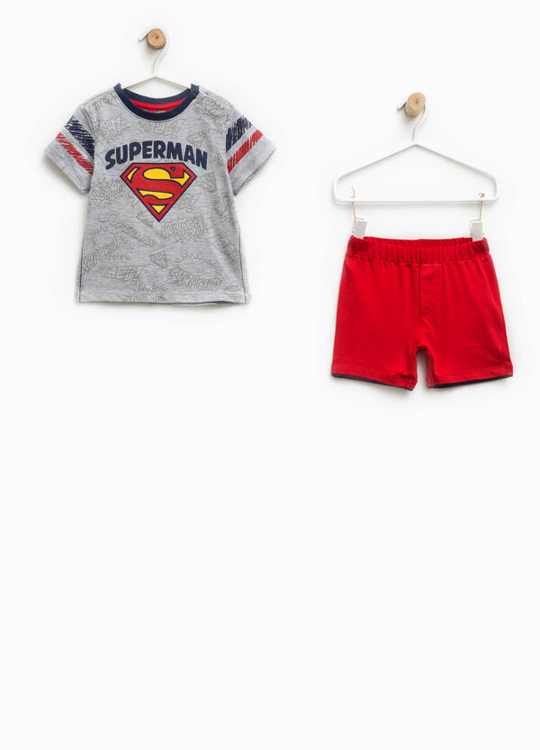 Completo t-shirt e pantaloncini Superman | OVS