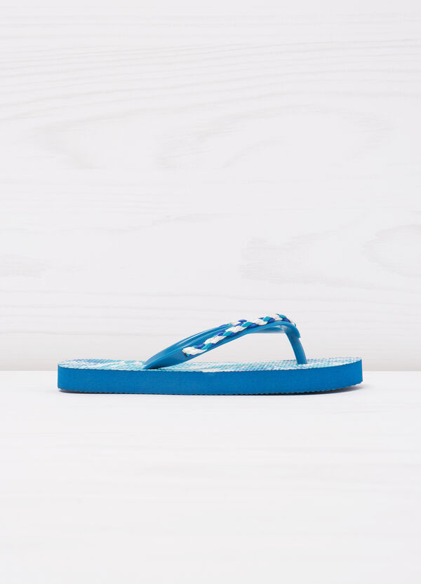 Thong sandals with pattern and insert | OVS