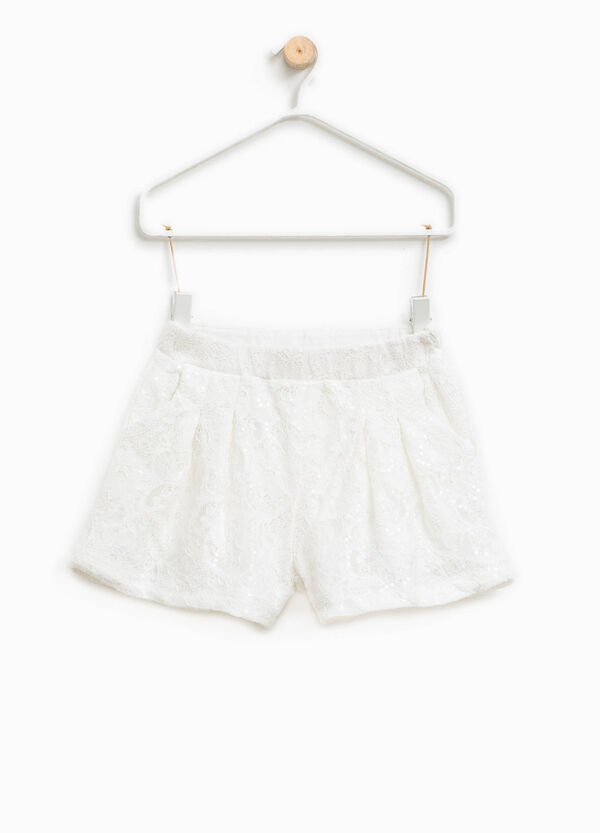 Lace sequinned shorts | OVS