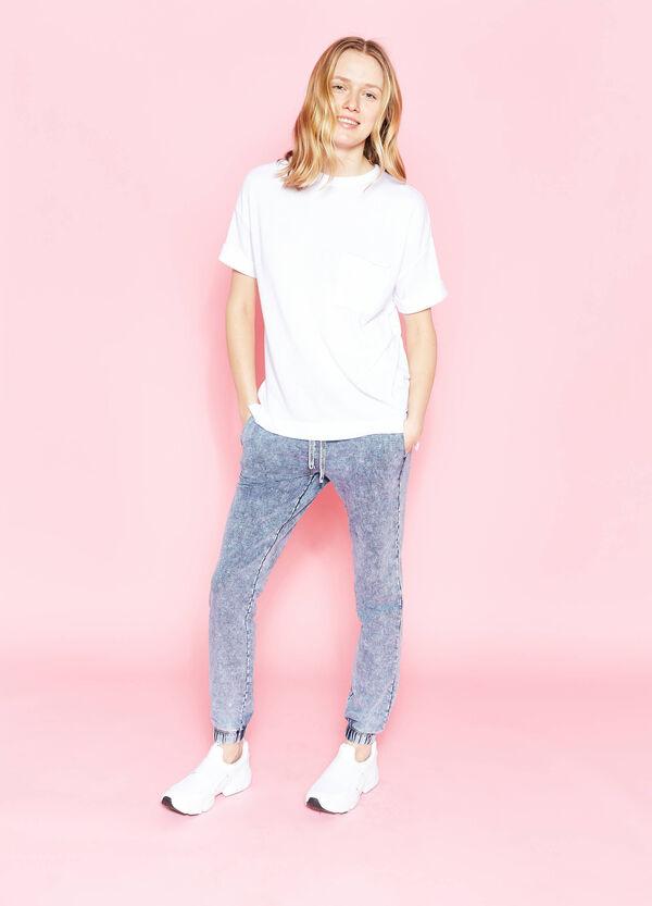 Pantaloni tuta in cotone effetto maltinto | OVS