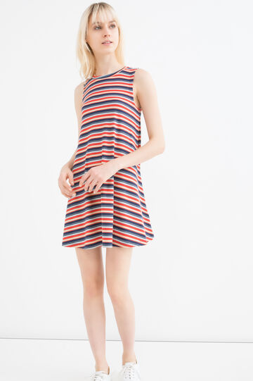 Short dress with striped print