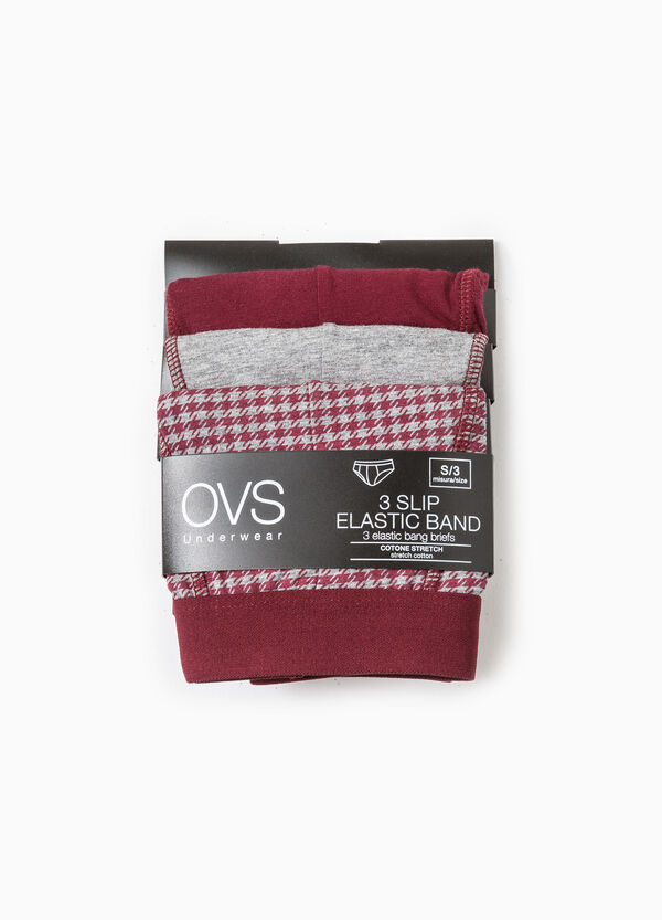 Three-pack patterned and solid colour briefs | OVS