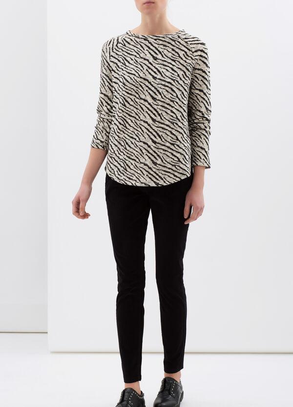 Pantaloni cotone stretch regular fit   OVS