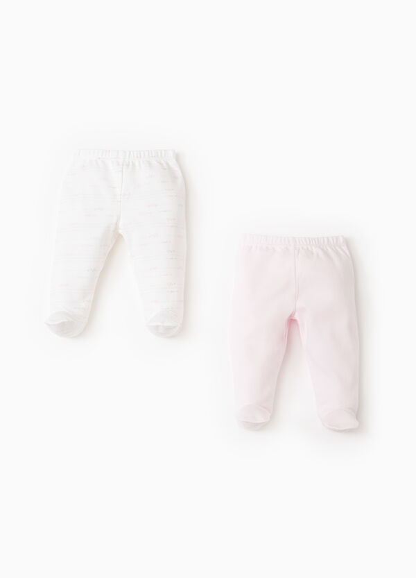 Two-pack baby leggings in 100% cotton | OVS