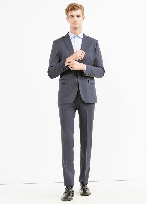 Traje elegante regular fit de lino y lana | OVS
