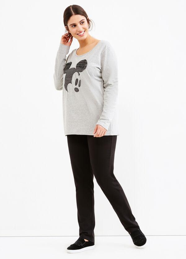 T-shirt stretch con paillettes Curvy | OVS