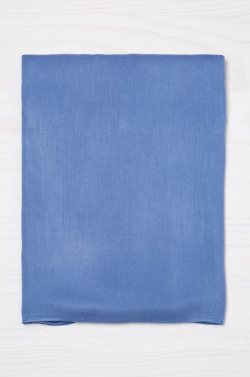 Solid colour viscose scarf, Soft Blue, hi-res