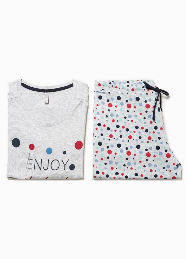 Pijama en mezcla de algodón con estampado | OVS