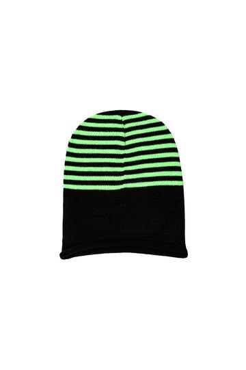Berretto a righe, Black/Green, hi-res