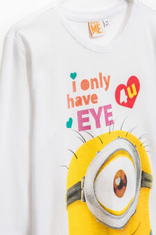 Minions printed T-shirt in 100% cotton, White, hi-res