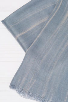 Striped pattern viscose pashmina, Grey, hi-res