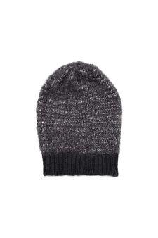 Sequinned beanie cap, Black, hi-res