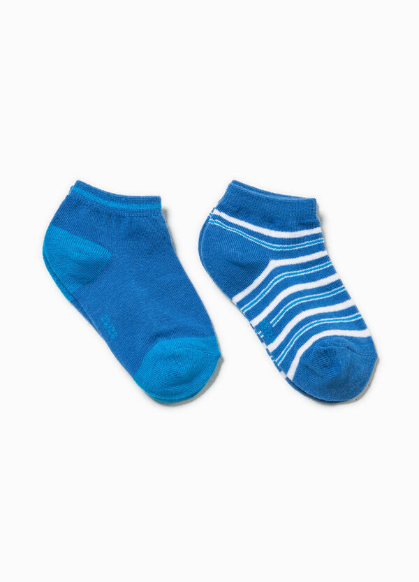Two-pair pack solid colour and striped socks | OVS