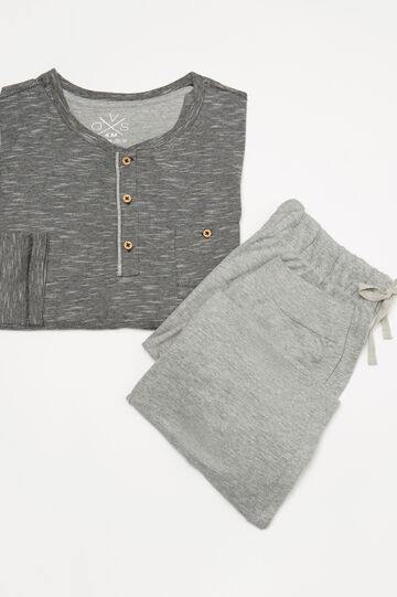 100% cotton two-tone pyjamas, Black, hi-res