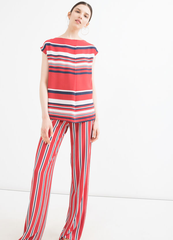 Stretch blouse with striped print | OVS