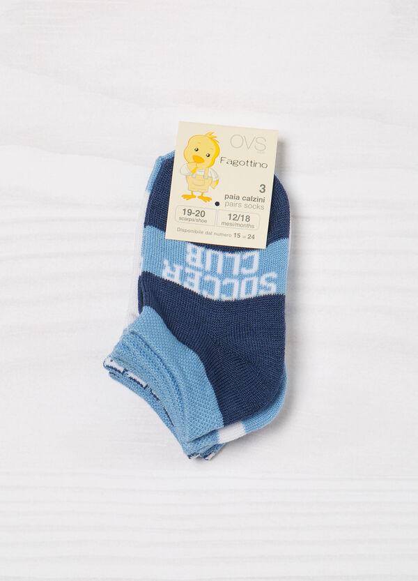 Set tre paia di calze misto cotone | OVS