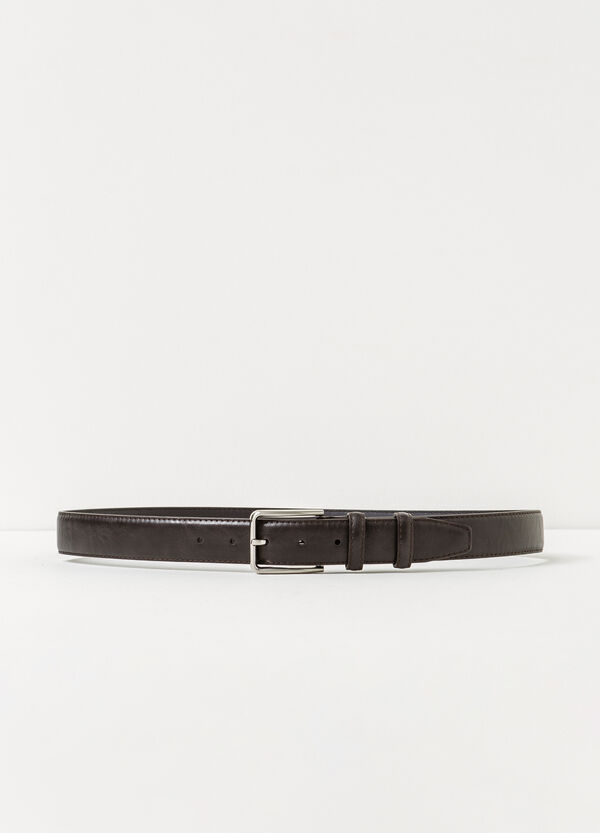 Textured belt with shiny buckle | OVS