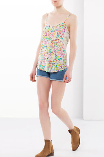 Multi-colour top with lace