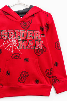 100% cotton tracksuit with Spiderman pattern, Grey/Red, hi-res