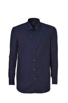 Regular-fit shirt in cotton twill, Blue, hi-res