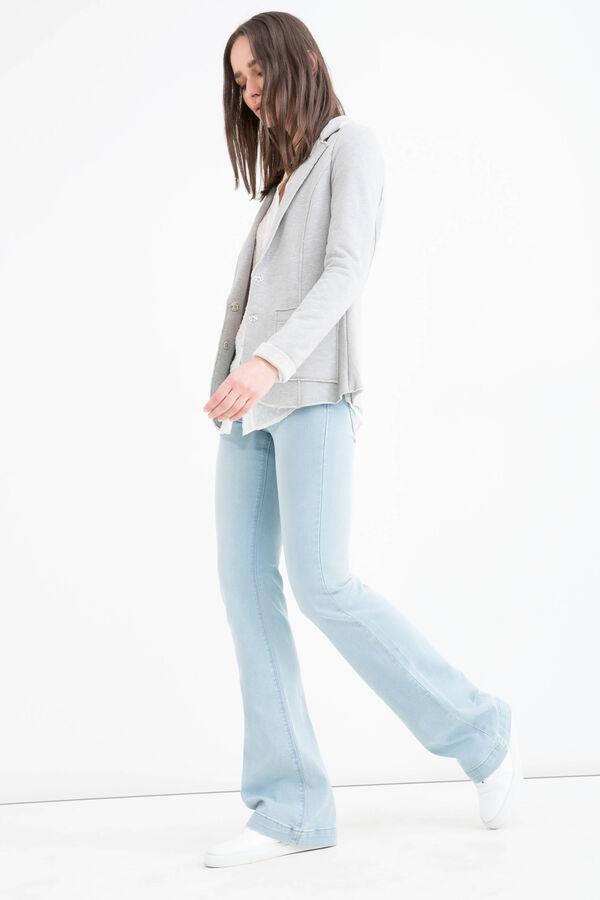 Cotton blend, raw edge blazer | OVS