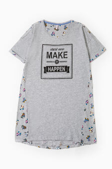 Nightshirt with skate pattern, Grey, hi-res