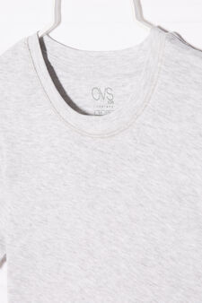 Cotton undershirt, Grey Marl, hi-res