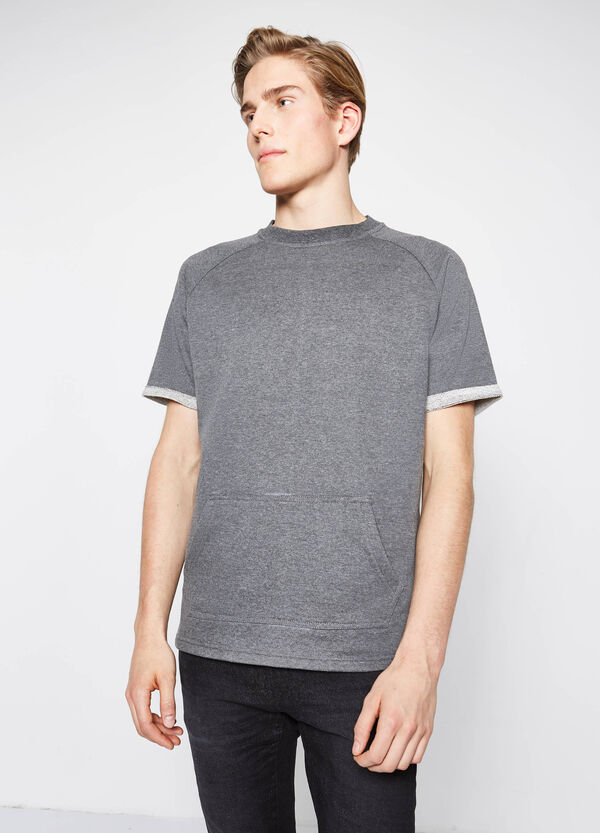 T-shirt in cotton blend with pouch pocket | OVS